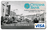 Picture of Debit Card with image of Truth or Consequences, New Mexico circa 1953