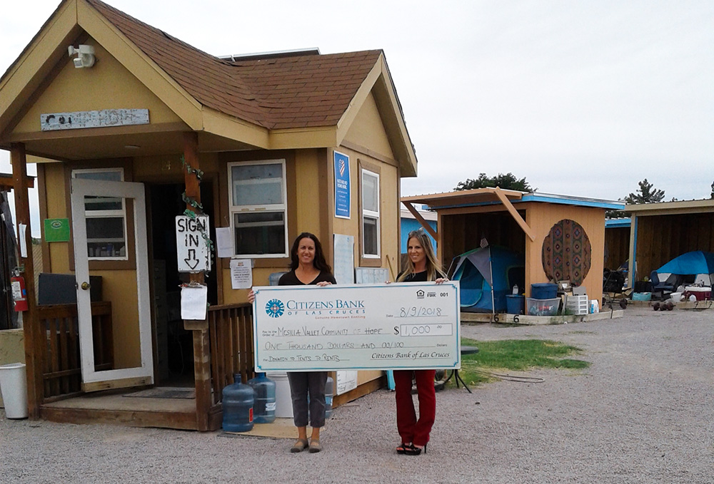 Check Presentation to Mesilla Valley Community of Hope for $1,000