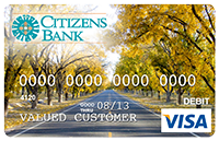 Picture of Debit Card with image of pecan trees lining a road