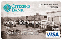 Picture of Debit Card with image of Las Cruces circa 1890