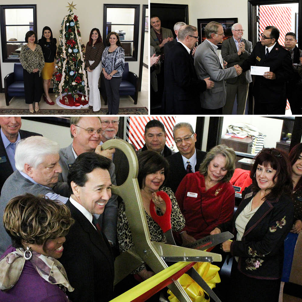 collage of El Paso ribbon cutting