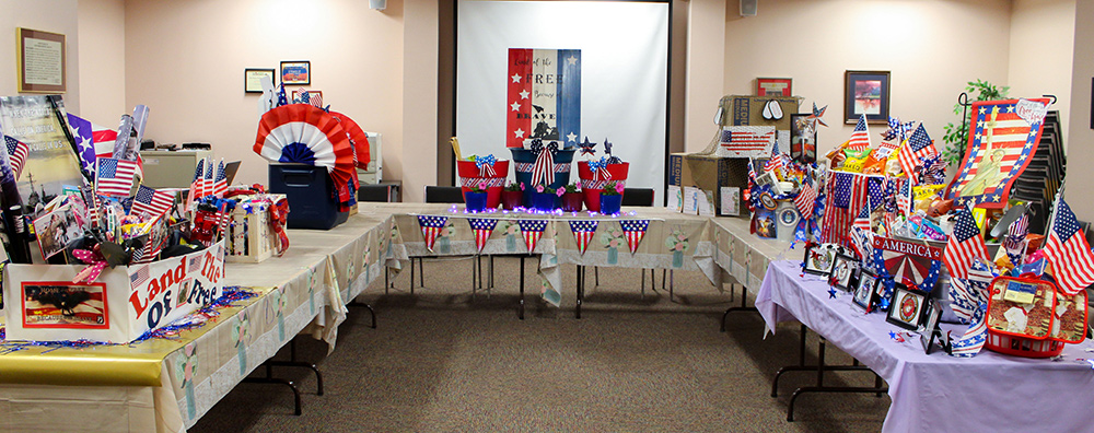 Picture of donated baskets for local veterans