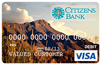 Picture of Debit Card with image of Turtleback Mountain in T or C, New Mexico